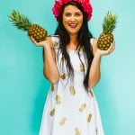 MAKE THIS GOLD PINEAPPLE DRESS FOR YOUR BRIDESMAIDS!