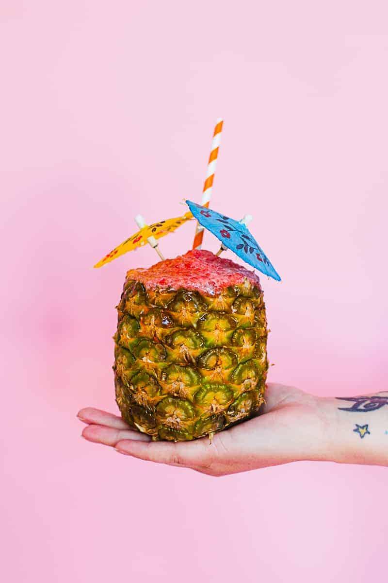 Diy Strawberry Amp Pineapple Cocktail Bespoke Bride