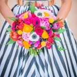 A KATE SPADE-ESQUE STYLED SHOOT WITH A MAGNIFICENT BLACK & WHITE STRIPE DRESS!!
