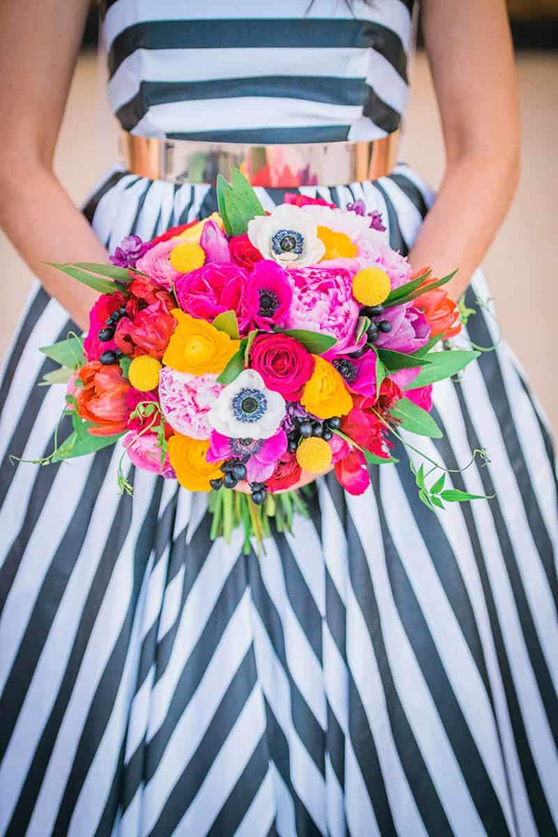 Kate spade inspired shoot bespoke bride wedding blog a kate spade esque styled shoot with a magnificent black white stripe dress mightylinksfo