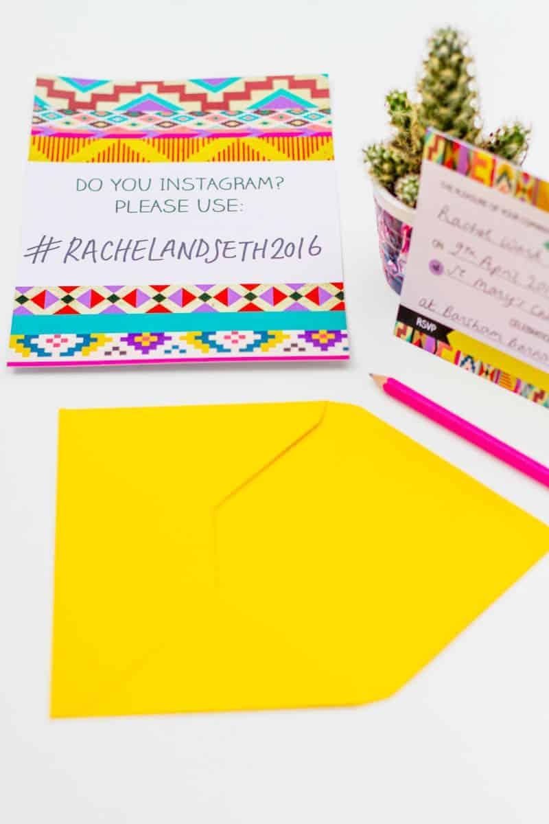 Free Aztec festival free Printable wedding invitation & Hashtag Instagram Poster (4)