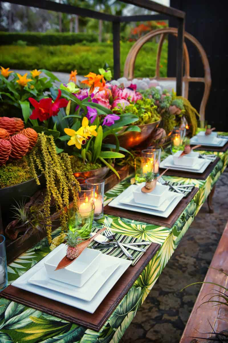 How to tropical table decor bespoke bride wedding