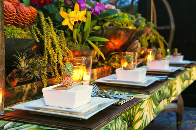 How To Tropical Table Decor Bespoke Bride Wedding Blog