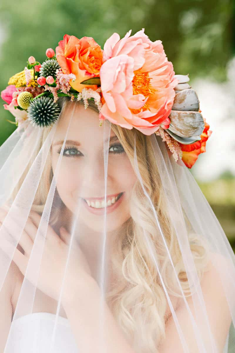 How To Make A Succulent Crown Boho Wedding Bespoke Bride Wedding Blog