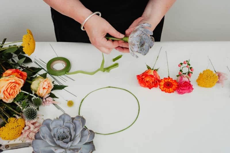 How to make a succulent crown - Step 4