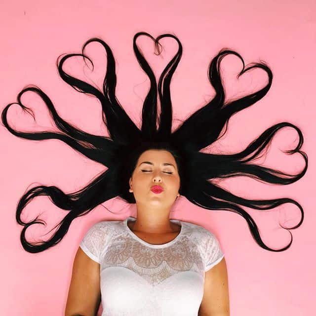 Kendall Jenner Heart Hair