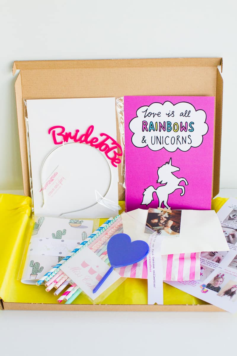Bride Wedding DIY Subscription Box BB Crafty Club unboxing September