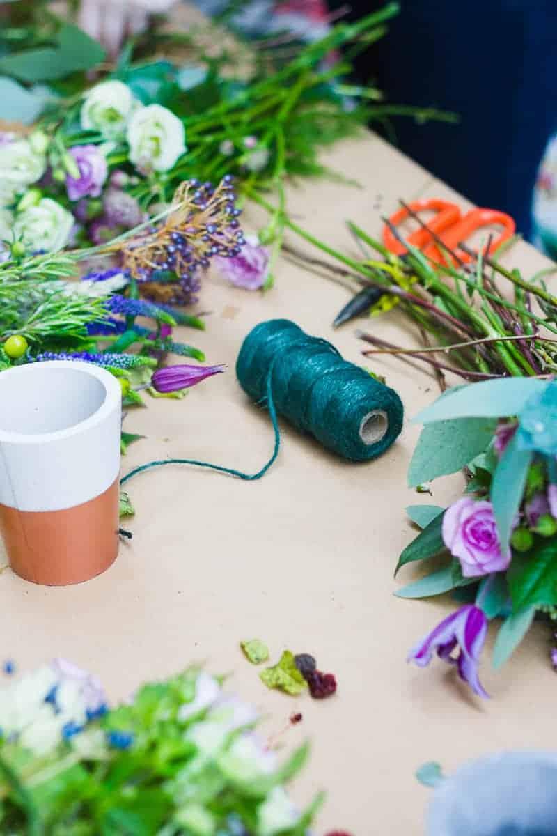Etsy Wedding Flower Workshop Harriet Parry Floral Posie Bespoke Bride Bourne and Hollingsworth-15