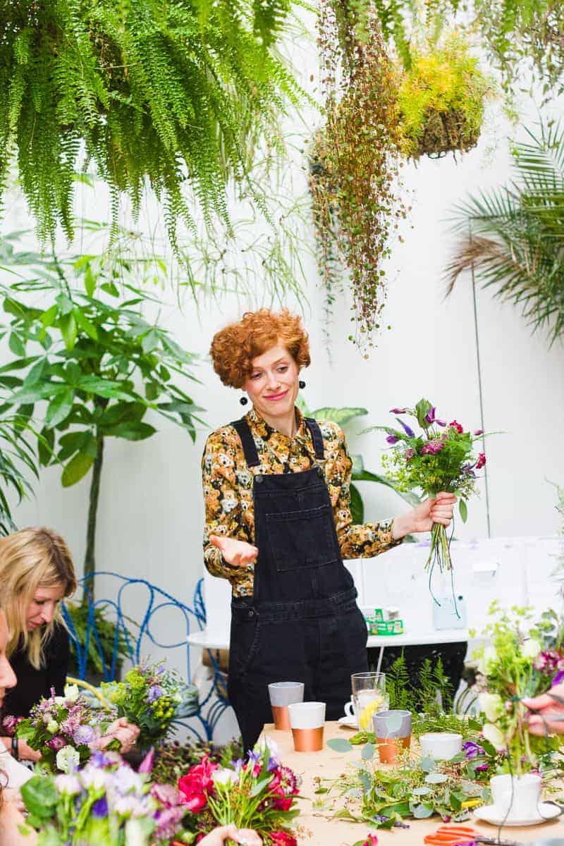 Etsy Wedding Flower Workshop Harriet Parry Floral Posie Bespoke Bride Bourne and Hollingsworth-27
