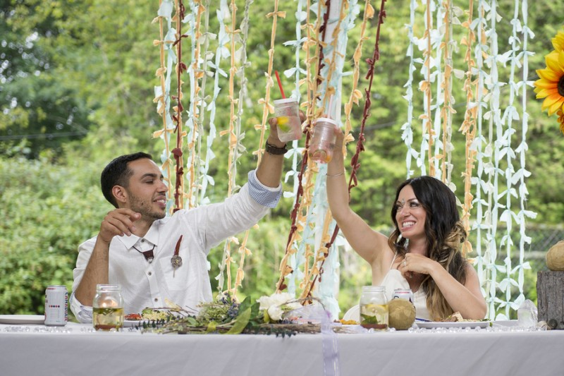 THIS FREE SPIRITED TRAVEL BLOGGER'S BOHEMIAN FOREST WEDDING IS A DREAM COME TRUE! (36)