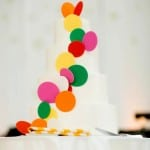 THIS BOLD & VIBRANT WEDDING FEATURES THE MOST #PINTERESTABLE RAINBOW CONFETTI CAKE!!