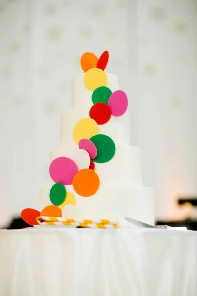 Bold & Vibrant wedding with an oversized Confetti wedding cake! (5)