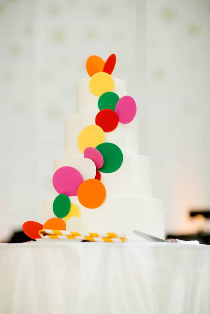 Bold & Vibrant wedding with an oversized Confetti wedding cake! (5)