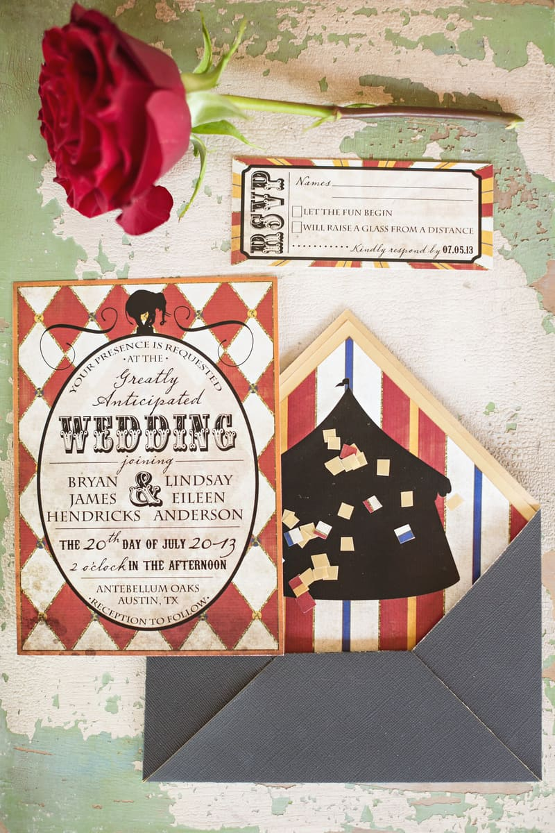 Circus Carnival Wedding Inspiration Theme 2