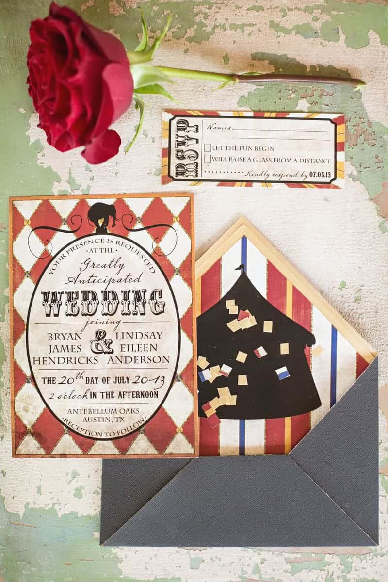 Circus Carnival Wedding Inspiration Theme 2
