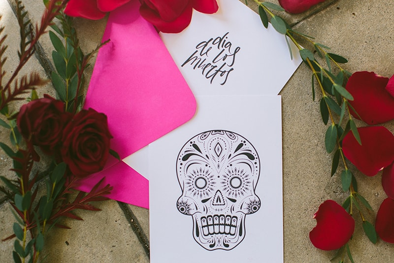 Day of the Dead Elopement Cinco de Mayo Halloween Wedding (16)