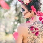 PREPARE YOURSELVES! THIS IS ONE SERIOUSLY SEXY DAY OF THE DEAD ELOPEMENT