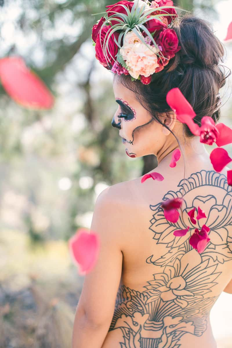Day of the Dead Elopement Cinco de Mayo Halloween Wedding (18)