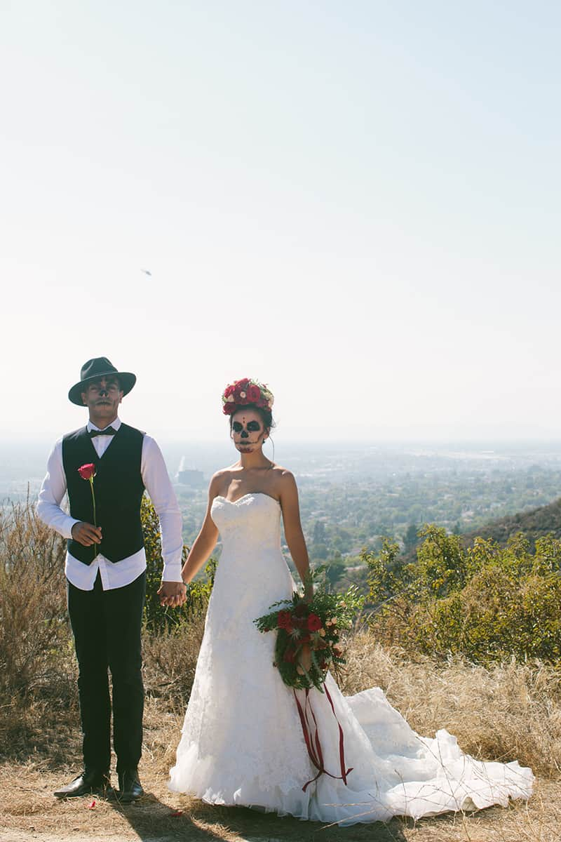 Day of the Dead Elopement Cinco de Mayo Halloween Wedding (19)