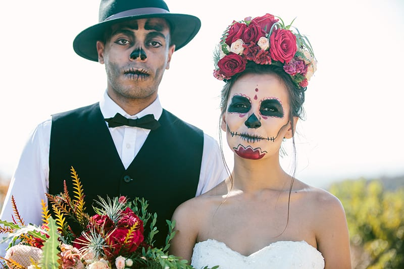 Day of the Dead Elopement Cinco de Mayo Halloween Wedding (21)