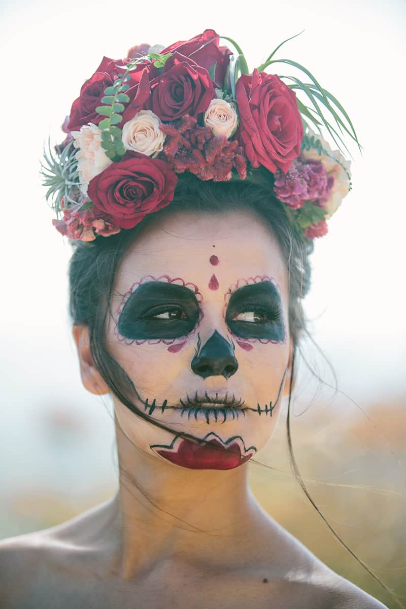 Day of the Dead Elopement Cinco de Mayo Halloween Wedding (22)