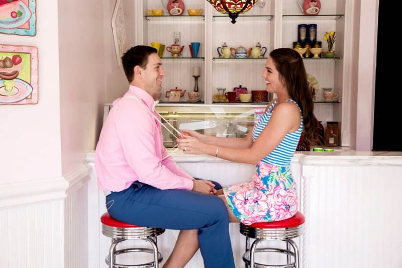 Ice Cream Parlour  Engagement Florida (16)