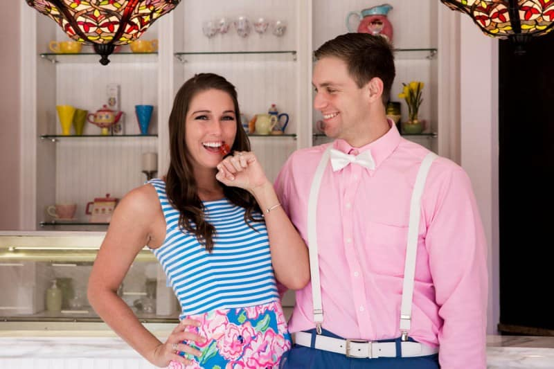 Ice Cream Parlour  Engagement Florida (18)