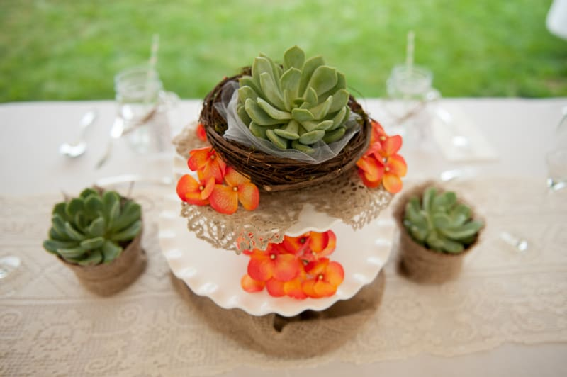 Retro campervan hippie wedding with chevrons & succulents-10