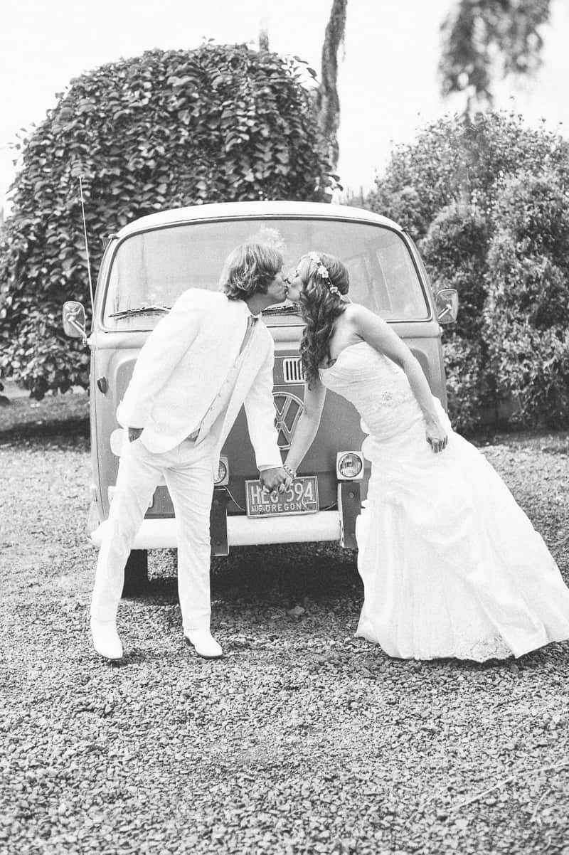 Retro campervan hippie wedding with chevrons & succulents-5