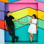 THIS COUPLE WENT ON A COLOURFUL WALL CRAWL FOR THEIR E-SHOOT & FOUND A GIANT BALL PIT!