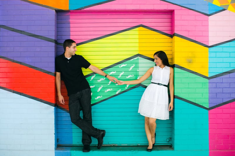 This Went On A Colourful Wall Crawl For Their E Shoot Found Giant Ball Pit