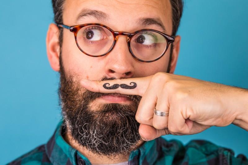 Doris Loves -Moustache - Temporary Tattoos