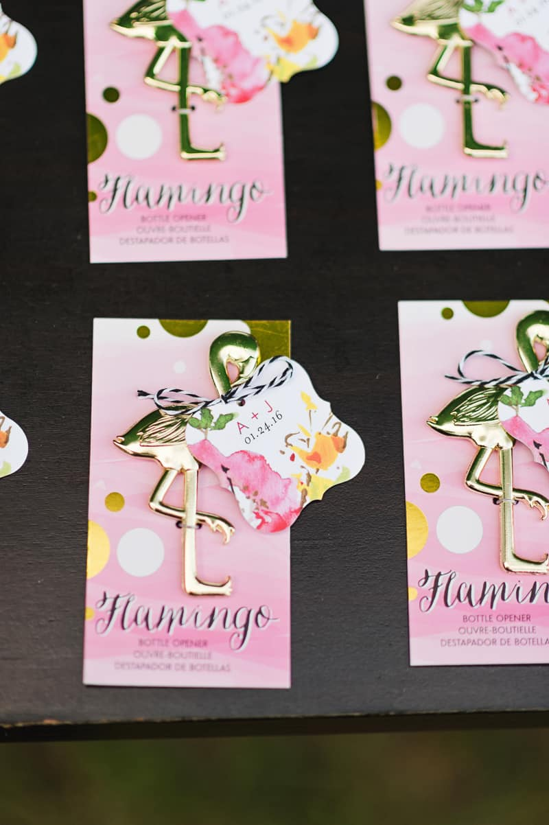 Flamingo Themed Engagement Shoot Party Retro pineapples gold pink wedding inspiration-10