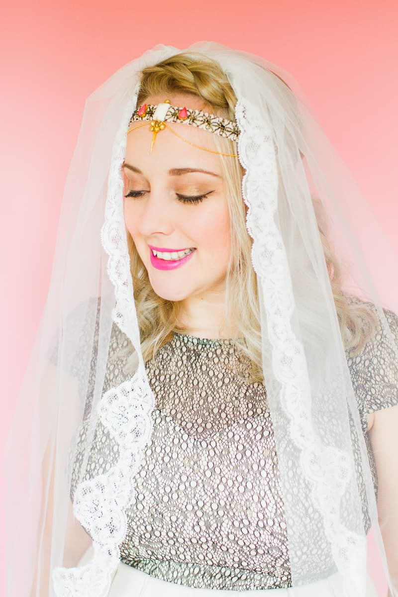 Styling wedding veils with floral flower crowns giant bows and boho headpieces for the modern bride britten weddings-16