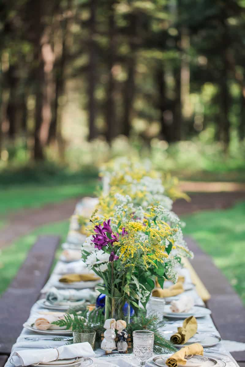 Whimsical Outdoor candles wedding garden intimate_-2