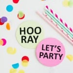 DIY PARTY COASTERS FOR YOUR NEW YEARS EVE SHINDIG!