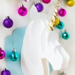 DECK THE HALLS WITH THIS DIY 3D PAPERCRAFT UNICORN HEAD + CRICUT GIVEAWAY!