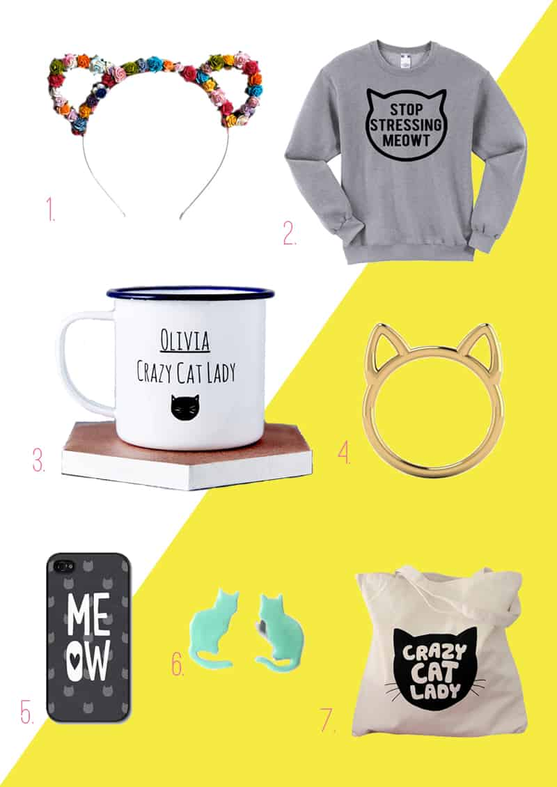 gift guide love cats lovers couples fun jumper ring mug etsy ears earrings tote
