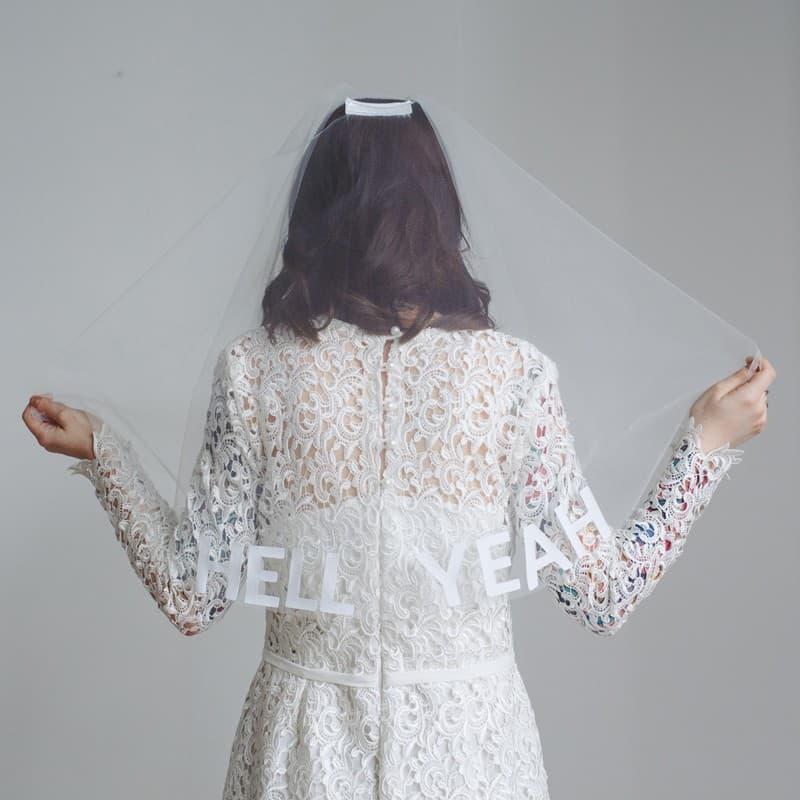 Custom Slogan Circle Veil