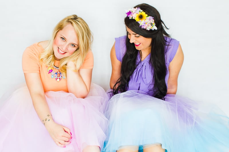 DIY-ombre-tulle-skirts-two-tone-blue-purple-orange-pink-8