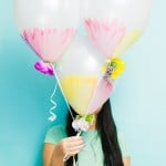 DIY WATERCOLOUR FLOWER BALLOONS