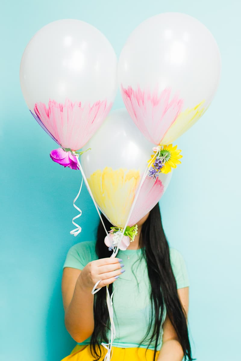 DIY watercolour balloons flowers spring wedding inspiration easter pretty how to_-4