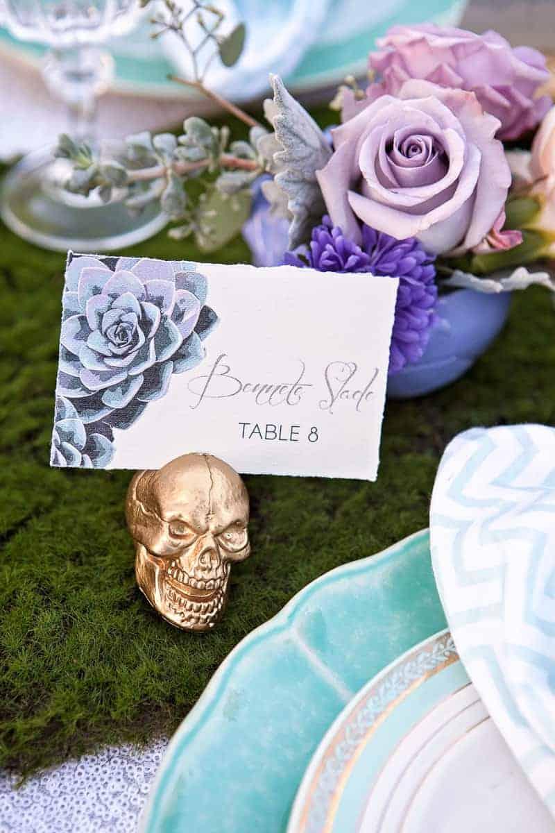 Spring style wedding inspiration skull theme scheme pastel colours modern_-15