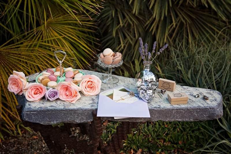 Spring style wedding inspiration skull theme scheme pastel colours modern_-30