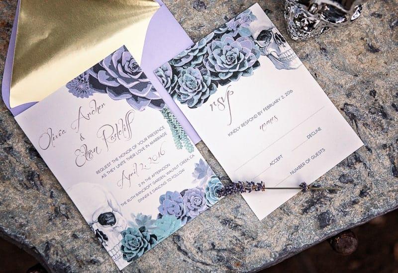 Spring style wedding inspiration skull theme scheme pastel colours modern_-43