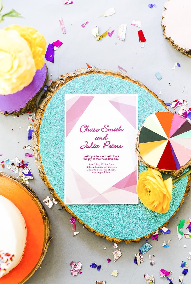 Geometric Prismatic colourful modern wedding inspiration unique fun 18