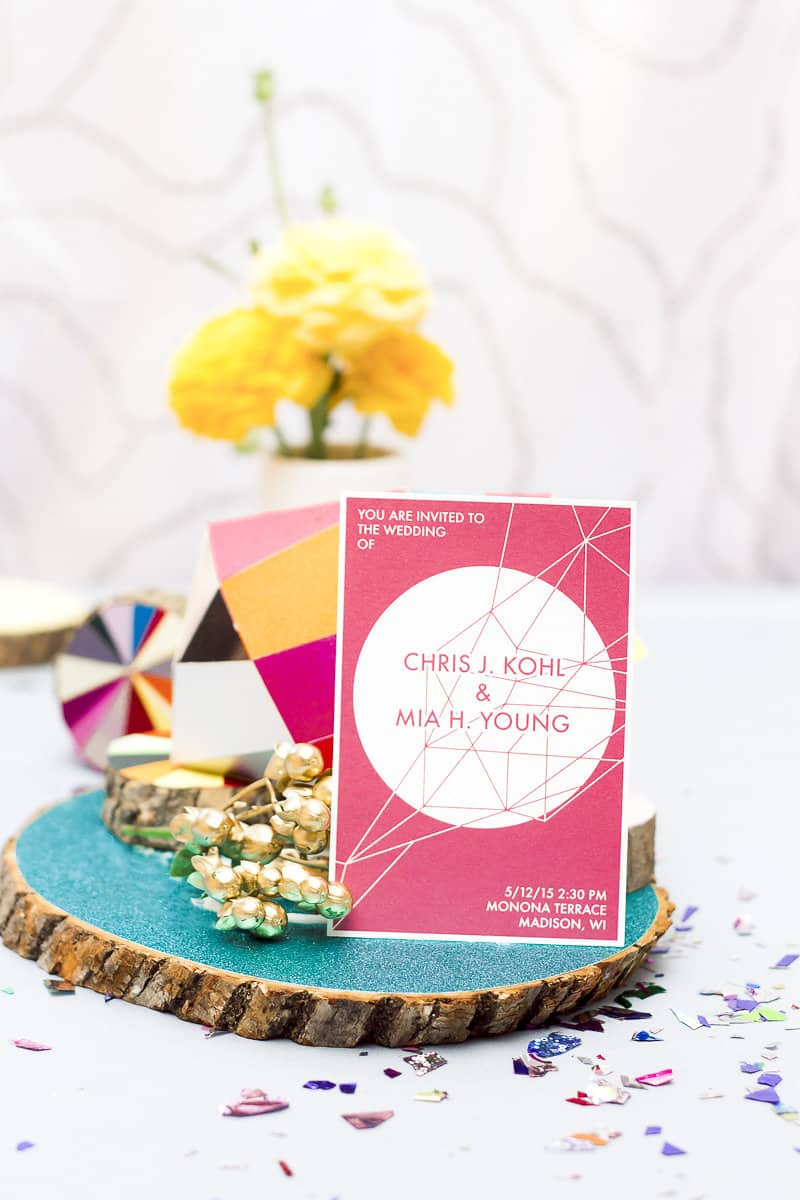 Geometric Prismatic colourful modern wedding inspiration unique fun 19