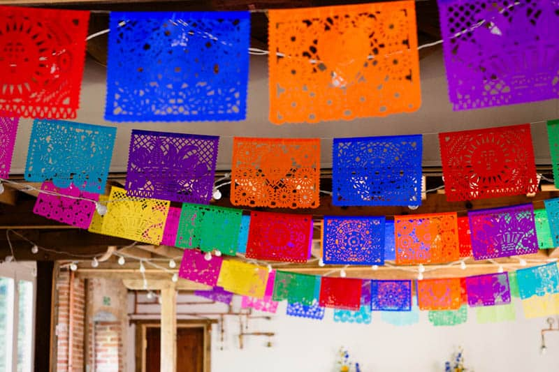 best holiday photo card ideas - Papel Picado