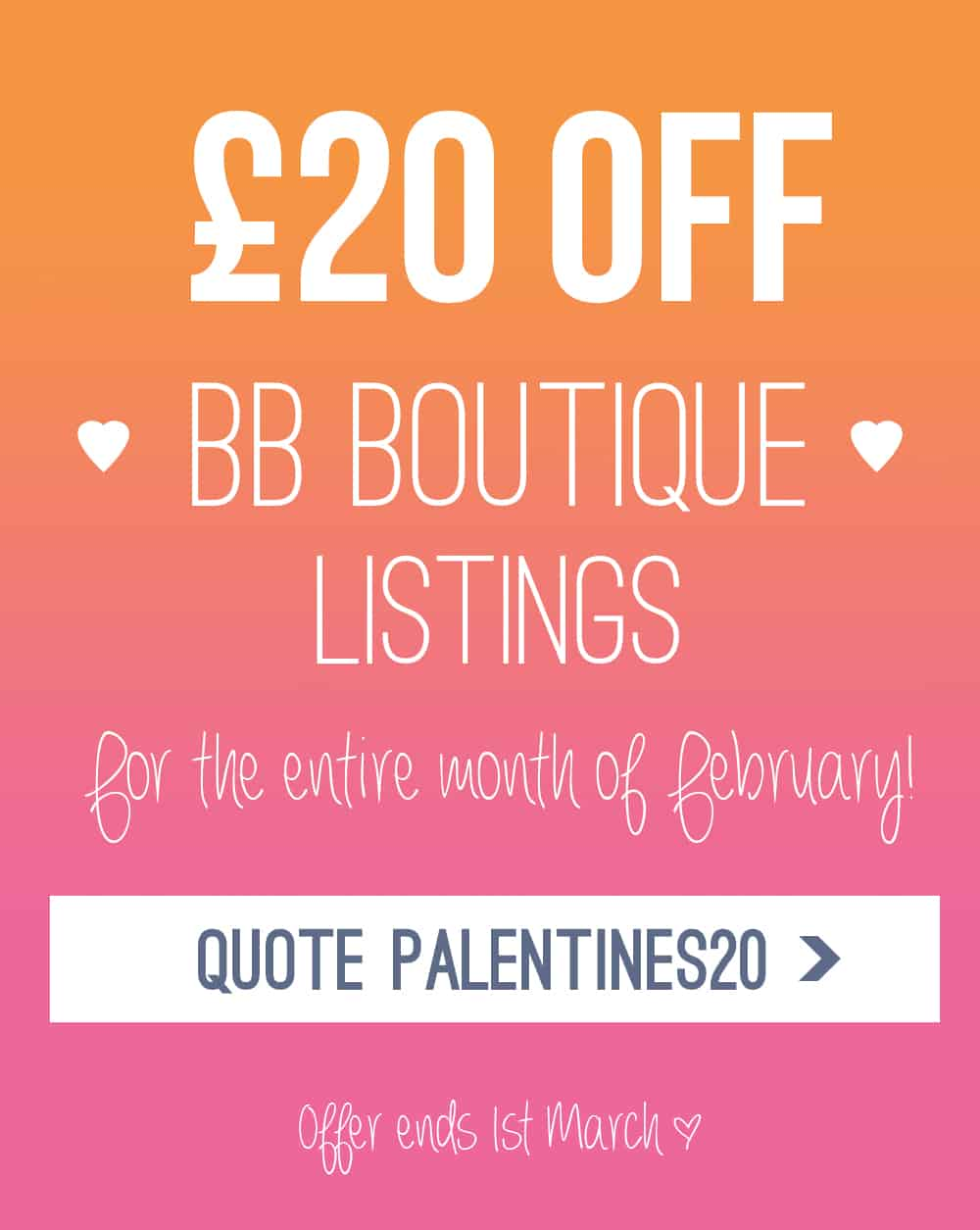 Palentines Offer Suppliers