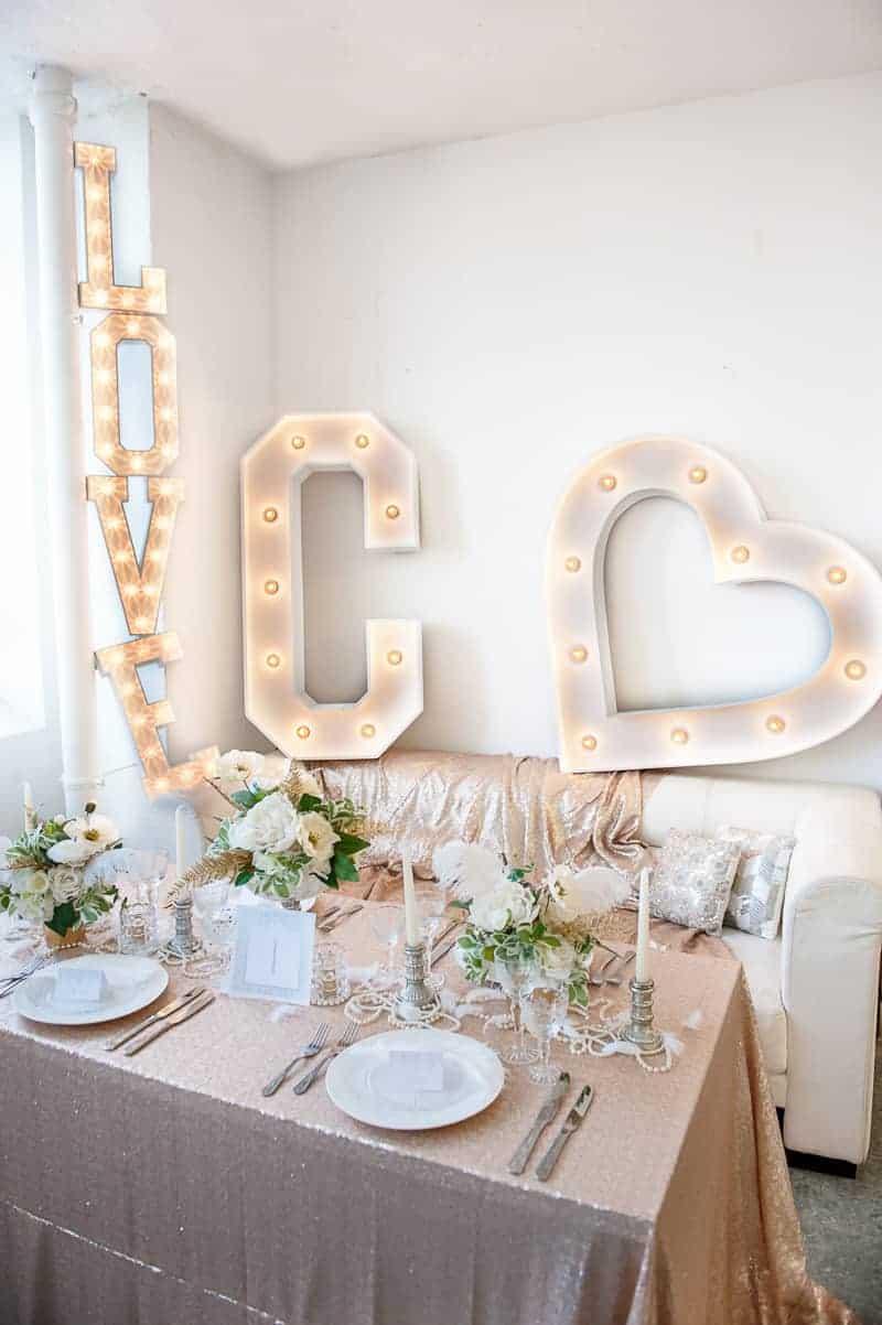 VAUDEVILLE VALENTINE Wedding inspiration Art Deco 1920s theme broadway bright lights and feathers_-1